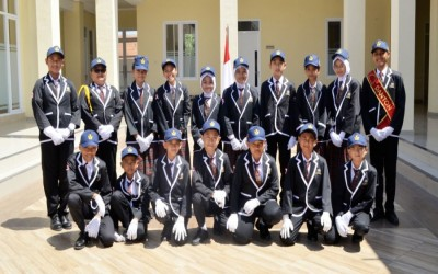 Semangatnya Siswa SMP HT 6 Excellent Dalam Lomba Gerak Jalan Tingkat SMP se-Kecamatan Sedati